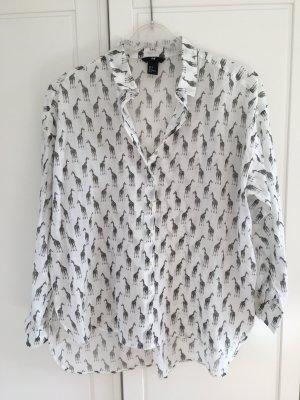 H&M Blusa taglie forti bianco-nero
