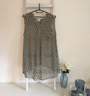 H&M Long Blouse white-black