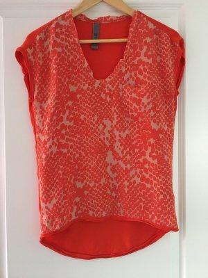 Dante 6 Short Sleeved Blouse orange-cream silk