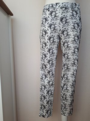 H&M Pantalone peg-top nero-bianco Cotone