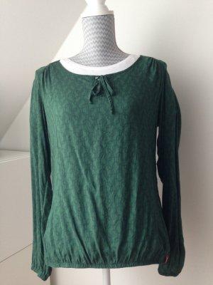 Gemusterte grüne Bluse/Shirt (EDC by Esprit) Gr. S
