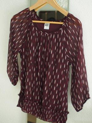 Gemusterte halbtransparente Bluse von Vero Moda