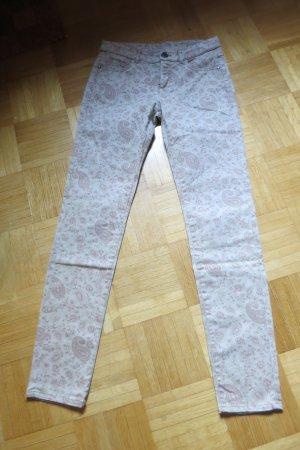 Yessica Pantalón de tubo beige claro-rosa