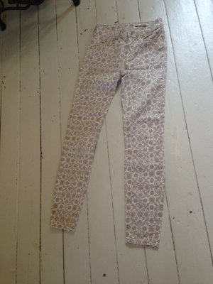 Zara Pantalon cigarette blanc-beige clair