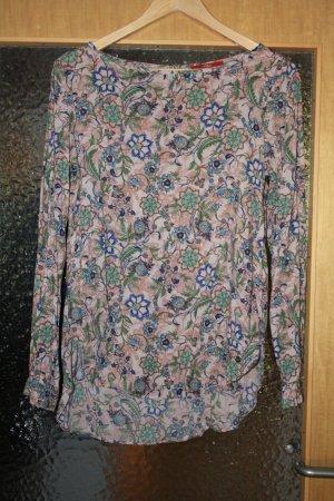 Gemusterte langarm Bluse