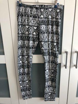 H&M Divided Leggings negro-blanco