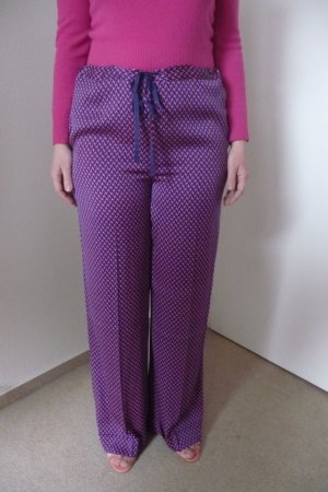 by Malene Birger Marlene Trousers dark violet-pink silk