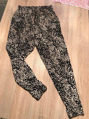 H&M Pantalone bloomers nero-beige chiaro