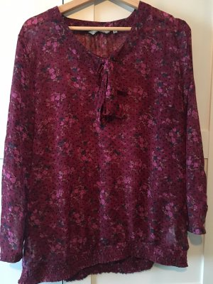 Tom Tailor Tie-neck Blouse purple-magenta