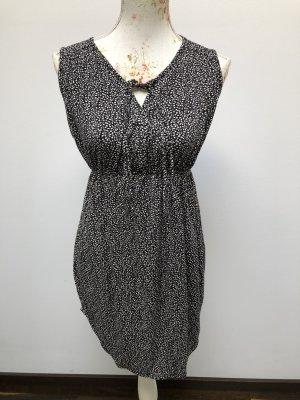 Robe tunique noir-beige clair viscose