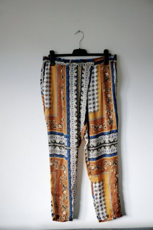 Zara Pantalon chinos multicolore polyester