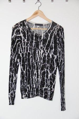M&S Chaleco de punto negro-blanco