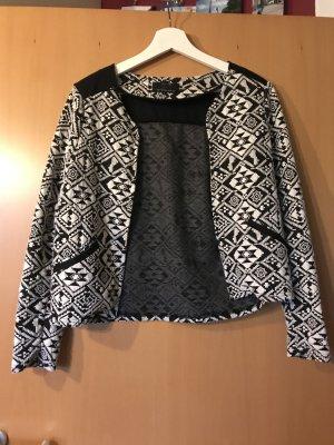 Only Knitted Blazer black-white cotton