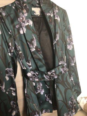 H&M Jersey blazer zwart-bos Groen