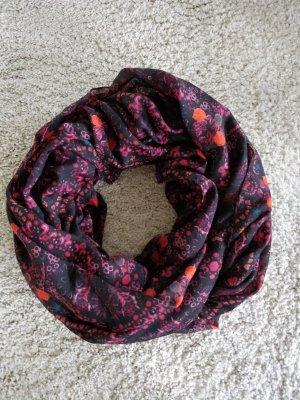 Pieces Écharpe ronde noir-rouge foncé