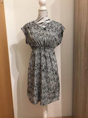 Chiffon jurk wit-zwart