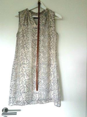 Gemustertes Kleid beige