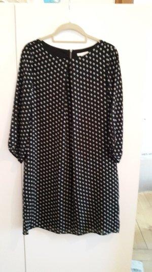 H&M Jurk zwart-wit Polyester