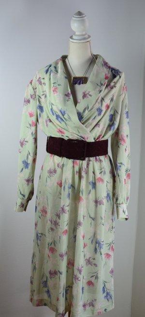 Gemustertes Langarm Kleid – VINTAGE
