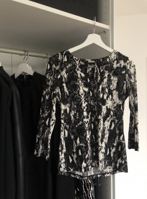 Long Sleeve Blouse black-white