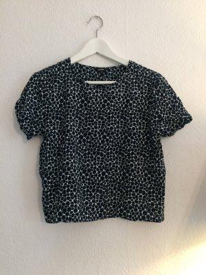 gemustertes Shirt blau-weiß