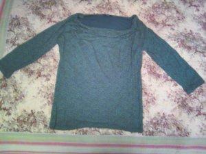 Opus Camisa con cuello caído gris-blanco
