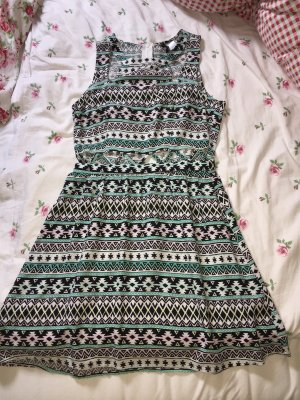 H&M Cut out jurk veelkleurig
