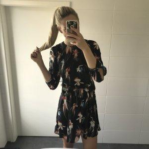 gemustertes Sommerkleid Blusenkleid