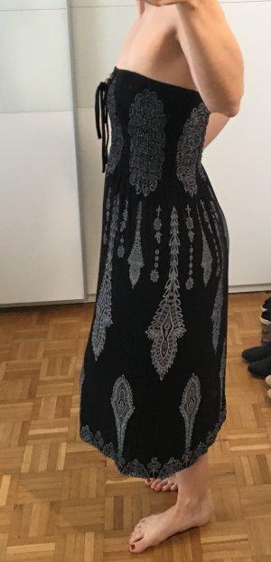 Strandkleding zwart-lichtgrijs
