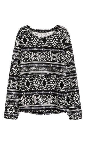 Gemustertes Sweatshirt Pullover