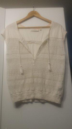 Gemustertes weißes T-Shirt