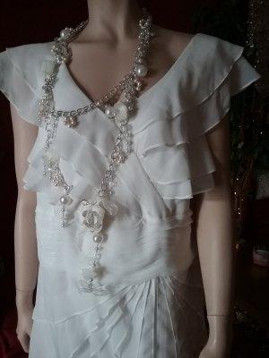 Ashley Brooke Pinafore dress white polyester