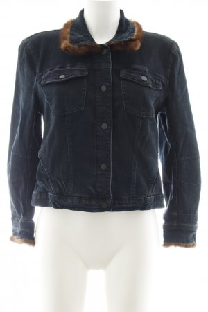 Genetic denim Jeansjacke dunkelblau Casual-Look