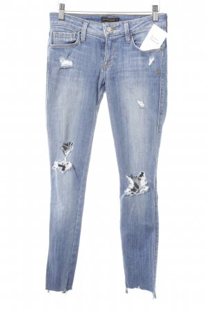 Genetic denim Skinny Jeans stahlblau Destroy-Optik