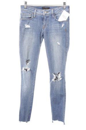 Genetic denim Skinny Jeans stahlblau Destroy-Optik