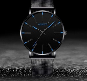 Geneva Self-Winding Watch black-blue