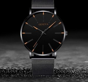 Geneva Self-Winding Watch black-orange