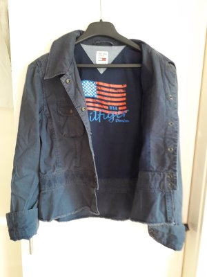 Tommy Hilfiger Denim Denim Jacket dark blue cotton
