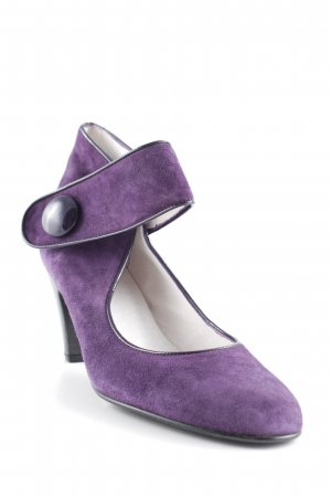 Gennia Backless Pumps dark violet classic style