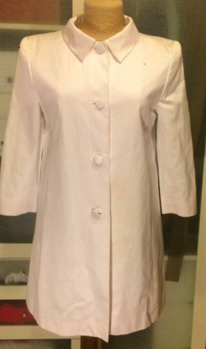 Redingote blanc coton