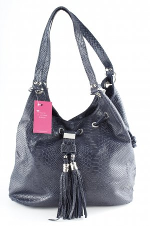Genuine Leather Buideltas donkerblauw casual uitstraling