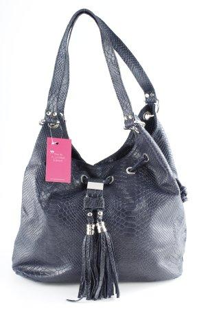 Genuine Leather Sac seau bleu foncé style décontracté
