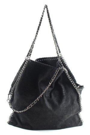 Genuine Leather Handtasche schwarz Elegant