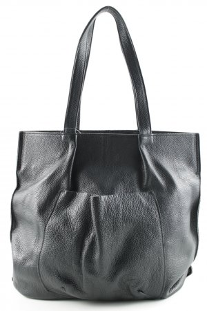 Genuine Leather Carry Bag black casual look