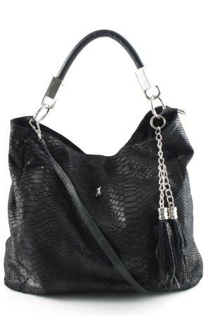 Genuine Leather Hobo schwarz Casual-Look