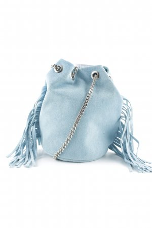 Genuine Leather Minitasche babyblau Party-Look