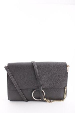 Genuine Leather Schultertasche schwarz Casual-Look