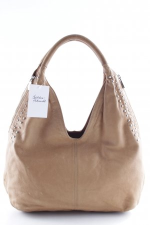 Genuine Leather Schultertasche cognac-camel Casual-Look