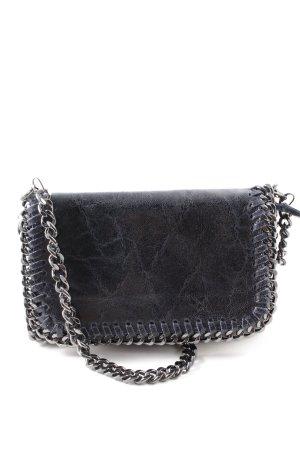 Genuine Leather Umhängetasche dunkelblau Casual-Look
