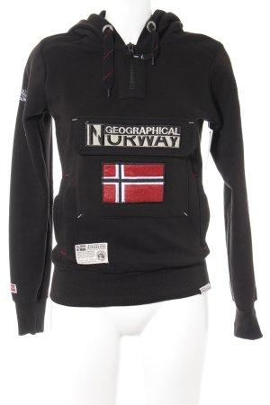 Geographical Norway Sweatshirt met capuchon veelkleurig casual uitstraling